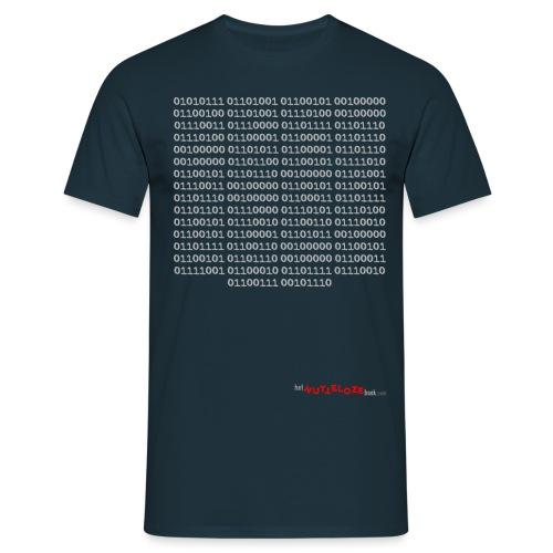 Nutteloos binair - Mannen T-shirt