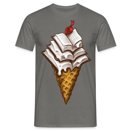Ice Cream Books - Men's T-Shirt