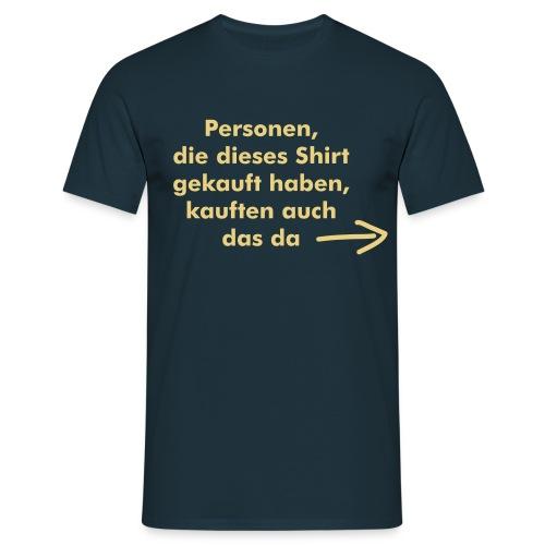 Shirtkauf - Männer T-Shirt