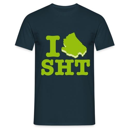 I love SHT green - Maglietta da uomo