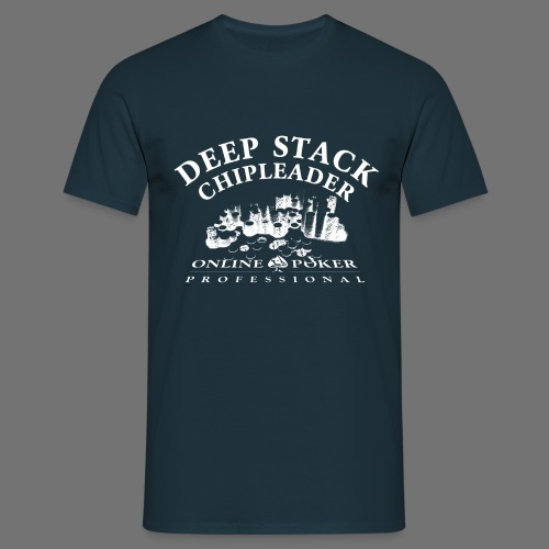 Poker Deep Stack (white) - Männer T-Shirt