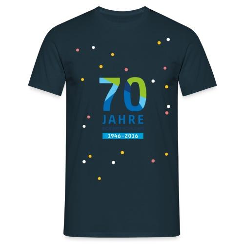 70 Jahre Eckert Schulen Konfetti - Männer T-Shirt