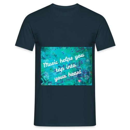 Music with heart 1280x960 - Mannen T-shirt