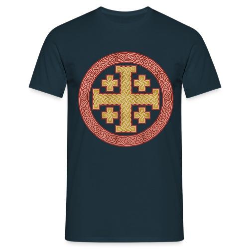 Jerusalem Style Celtic Cross - Men's T-Shirt