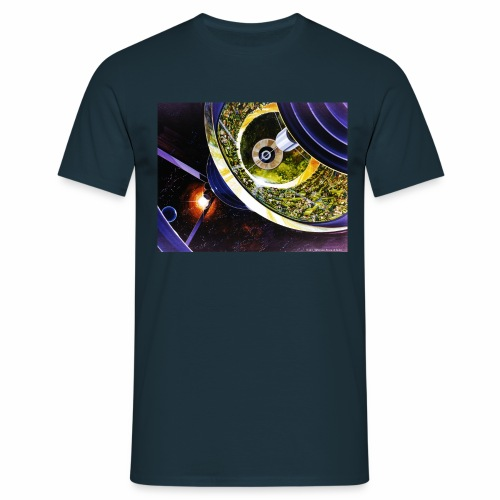 Bernal Spheres - NASA space colony study - Men's T-Shirt