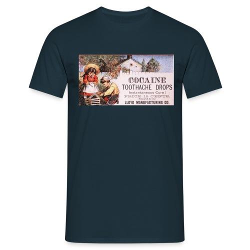 Kokain Werbung - Männer T-Shirt