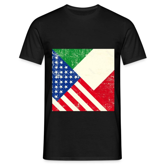 18147081 USA and Italian grunge Flag Stock Vector