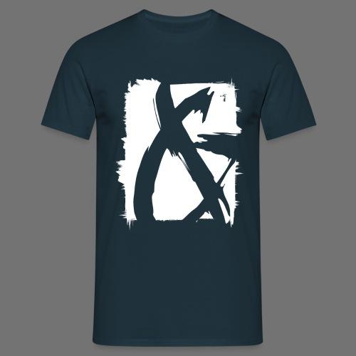 ja (valkoinen) - Miesten t-paita