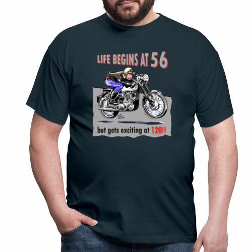 classic life begins at 56 - Men's T-Shirt
