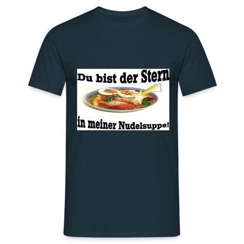 Stern in der Nudelsuppe - Männer T-Shirt