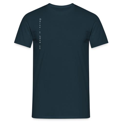 darts_i_love_it_weiss_v - Männer T-Shirt