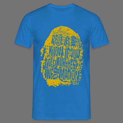 Fingerprint DNA (yellow) - Männer T-Shirt