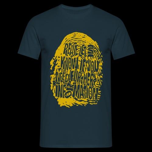 Linii papilarnych DNA (żółty) - Koszulka męska