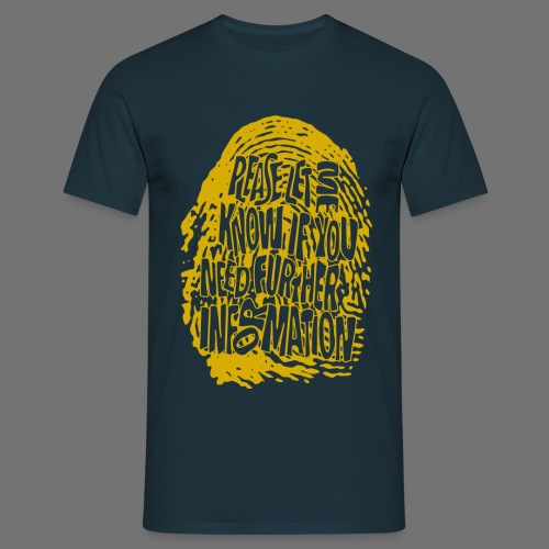 Fingerprint DNA (yellow) - Men's T-Shirt