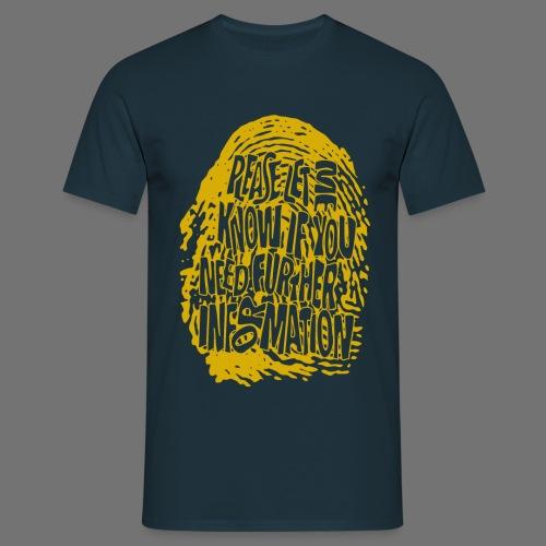 Vingerafdruk DNA (geel) - Mannen T-shirt