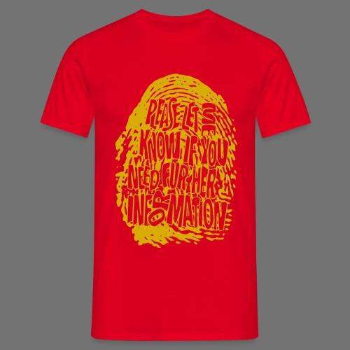 Sormenjälki DNA (keltainen) - Miesten t-paita