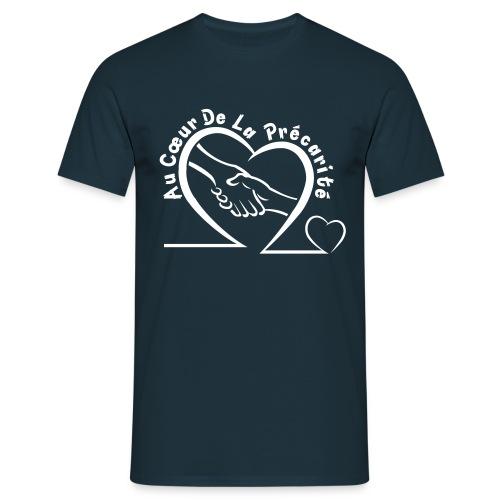 logo acdlp vetement blanc petit - T-shirt Homme