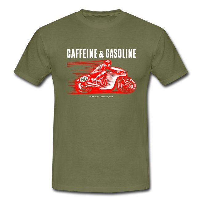 Caffeine & Gasoline white text