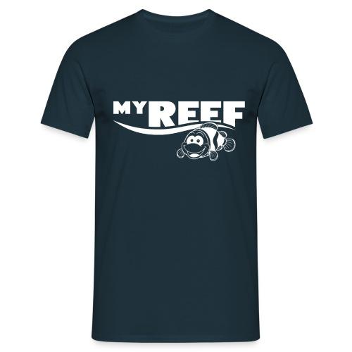 MyReef WhiteOnTransparent png - Mannen T-shirt