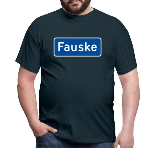 Fauske veiskilt (fra Det norske plagg) - T-skjorte for menn