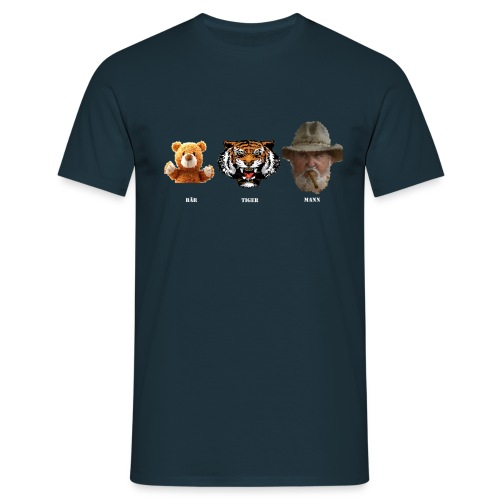 BärTigerMann Vektor w - Männer T-Shirt
