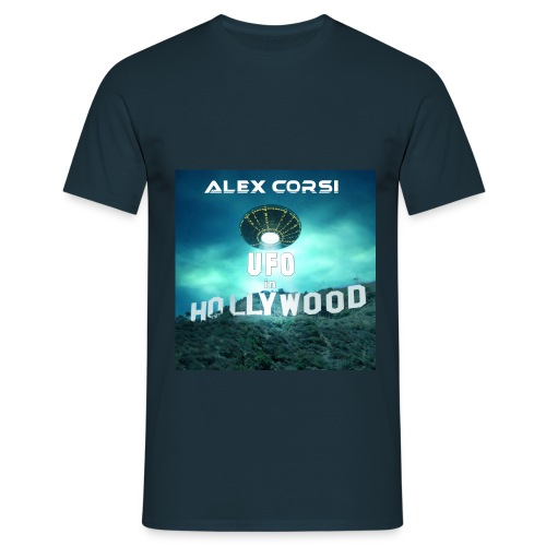 Ufo in Hollywood Single jpg - Men's T-Shirt