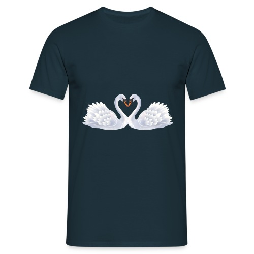 Swan hearts - T-shirt herr