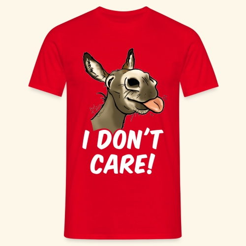 Ane I don't care! (texte blanc) - T-shirt Homme