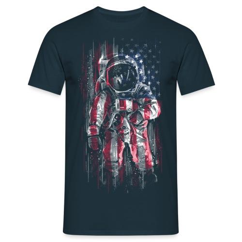 Astronaut Flag - Men's T-Shirt