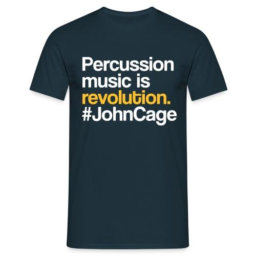 John Cage - Percussion Music (Schlagzeug Motiv) - Männer T-Shirt