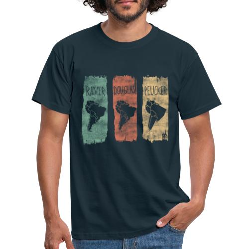 Ramer-Douglas-Peucker Stripes - South America - Men's T-Shirt