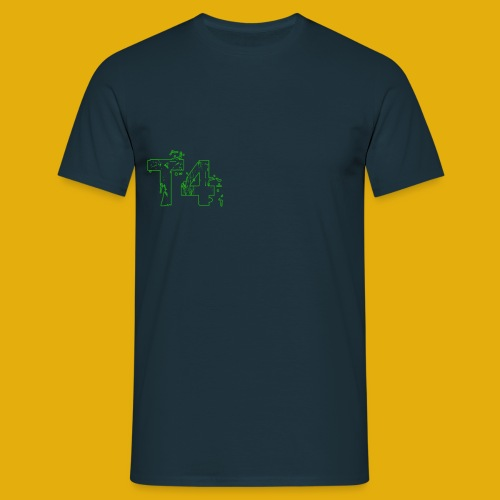 T4 Green White - Men's T-Shirt