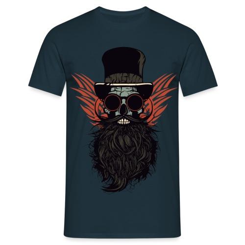 tete de mort crane skull barbu lunette de soleil r - T-shirt Homme