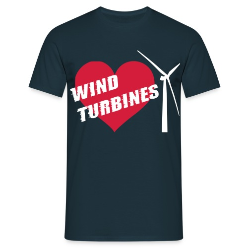 wind turbine grey - Men's T-Shirt