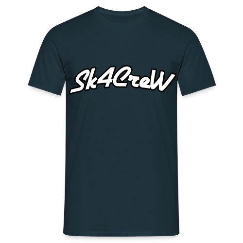 Logo Sk4CreW Blanc Contou - T-shirt Homme