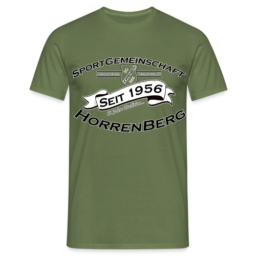 Aufdruck_Shirt_s_w_ - Männer T-Shirt