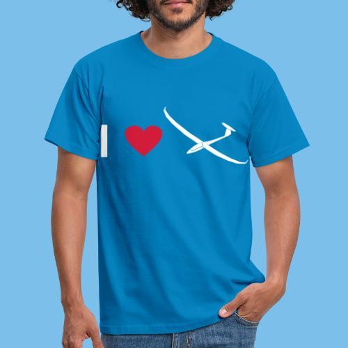 Ich liebe gleiten Segelflieger Segelflugzeug - Männer T-Shirt