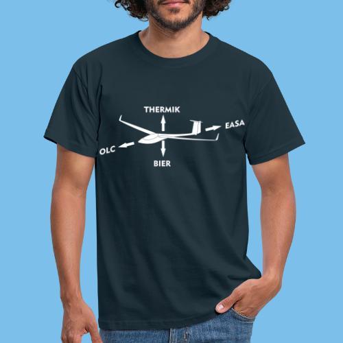 lustiger Segelflieger Spruch Pilot Geschenkidee - Männer T-Shirt