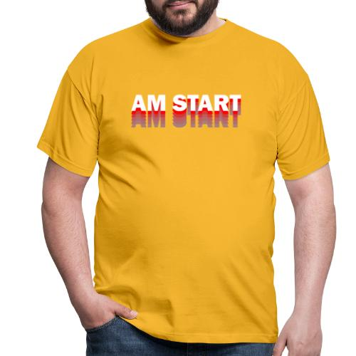 am Start - rot weiß faded - Männer T-Shirt
