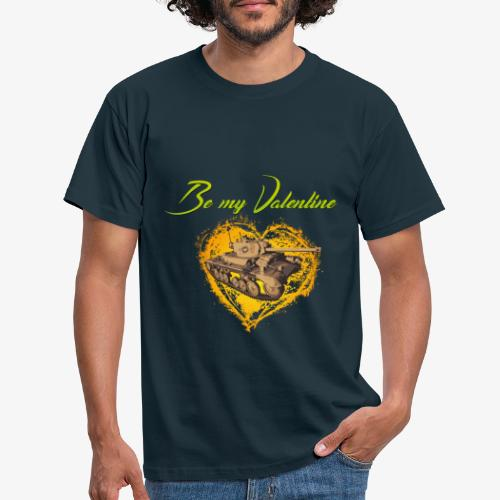 Glowing Valentine Heart - Männer T-Shirt