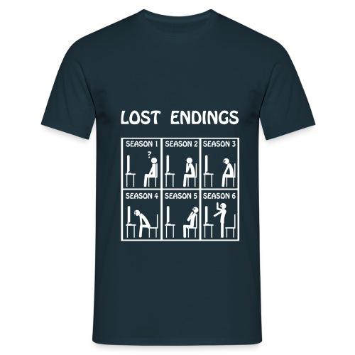 Lost endings white - Camiseta hombre