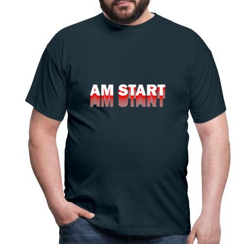 am Start - rot weiß faded - Männer T-Shirt