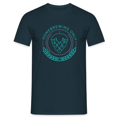 Homebrewing Only Turquoise - Men's T-Shirt