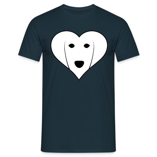 Saluki Heart - Maglietta da uomo