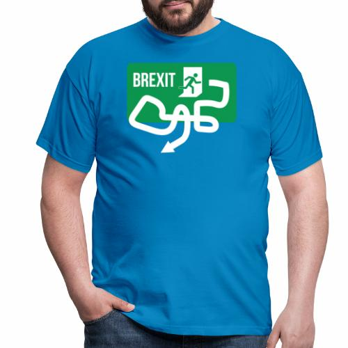 Brexit Exit Sign - Men's T-Shirt