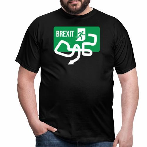 Brexit Exit Sign - Men's T-Shirt