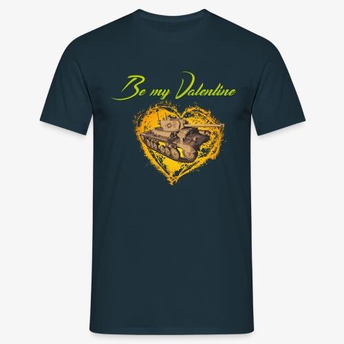 Glowing Valentine Heart - Männer T-Shirt