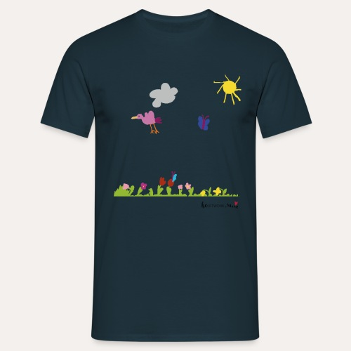 Blumenwiese von Marie - Männer T-Shirt