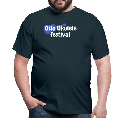 Festival logo hvit - T-skjorte for menn