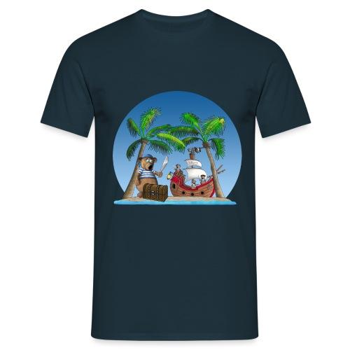 Pirat - Piratenschiff - Schatzinsel - Männer T-Shirt